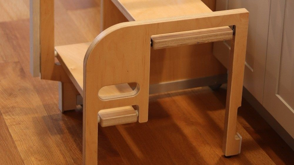 folding stool in kitchen