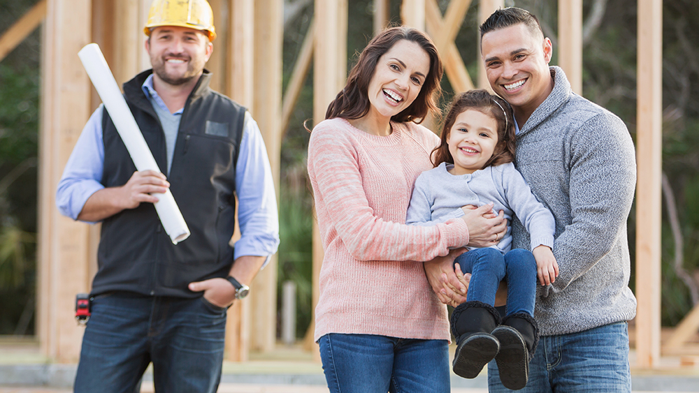 Family and builder planning for gas in new build